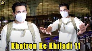 Abhinav Shukla leaves for Khatron Ke Khiladi 11 shoot \u0026 reacts on Rubina Dilaik's health