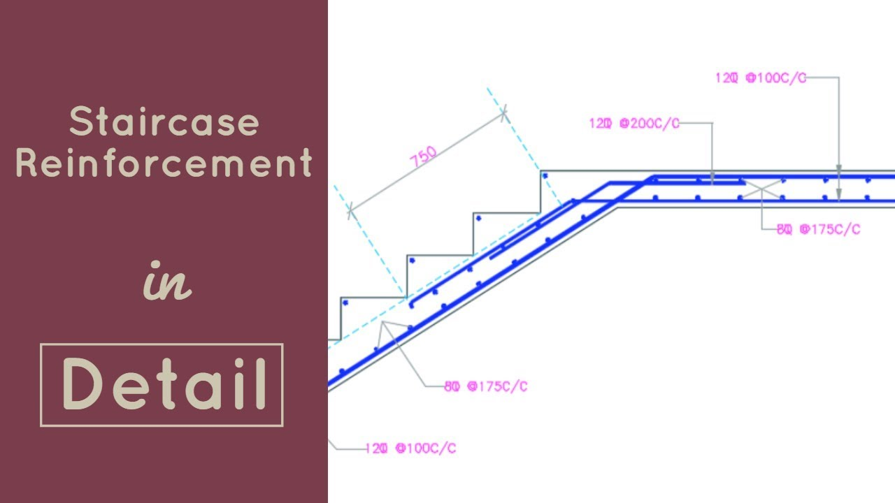 Reinforcement Of Staircase Explained In Detail Youtube