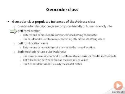 Network Gate Geocoder class Android Location-Based Apps. Human-Readable Location Information