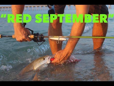 BEACH FISHING For REDFISH - Pensacola Beach