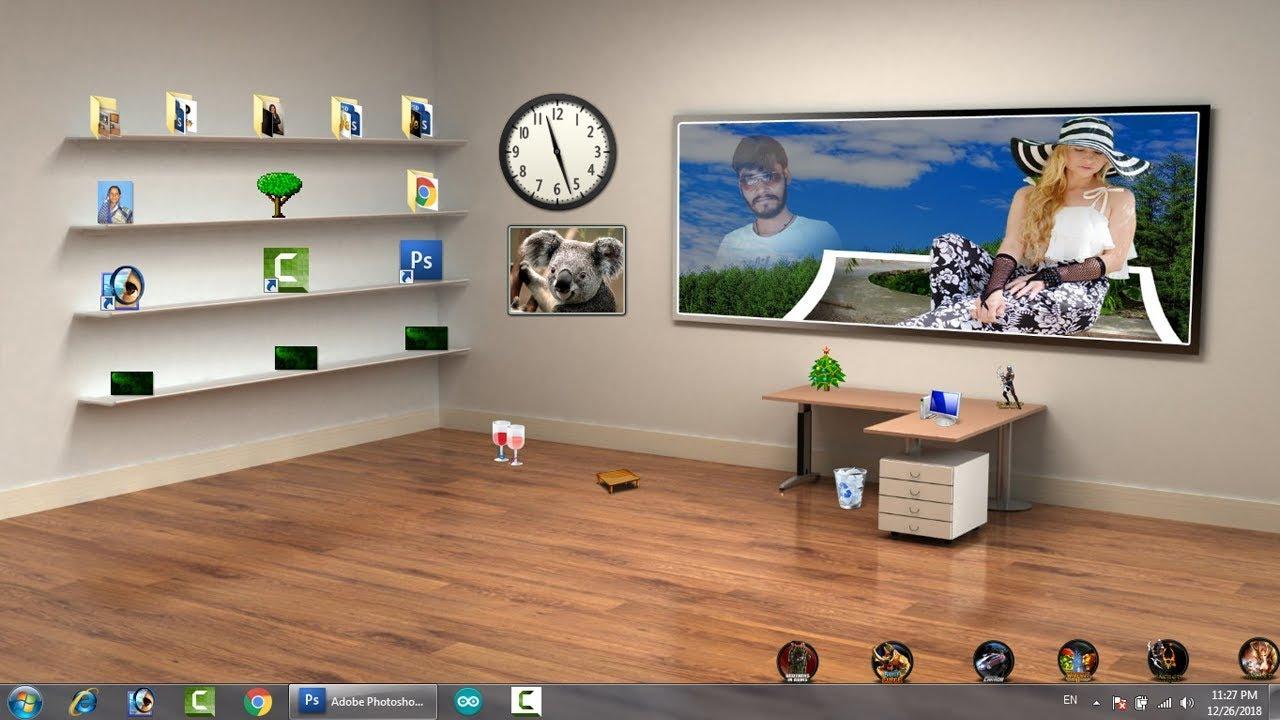 How to set 3D wallpaper on desktop laptop, Bina name ka folder