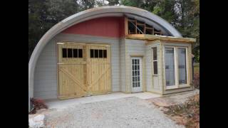 The Building of an Arch Metal Building by a non-professional ... Recycled lumber and salvaged windows and doors used to build the