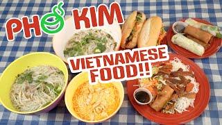Pho Kim Vietnamese Food Challenge w/ Vermicelli and Banh Mi!!