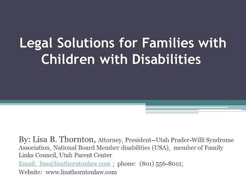Legal Solutions for Families with Children with Disabilities, Utah