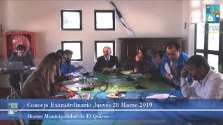 Concejo Municipal Extraordinario Jueves 28 de Marzo 2019 - El Quisco
