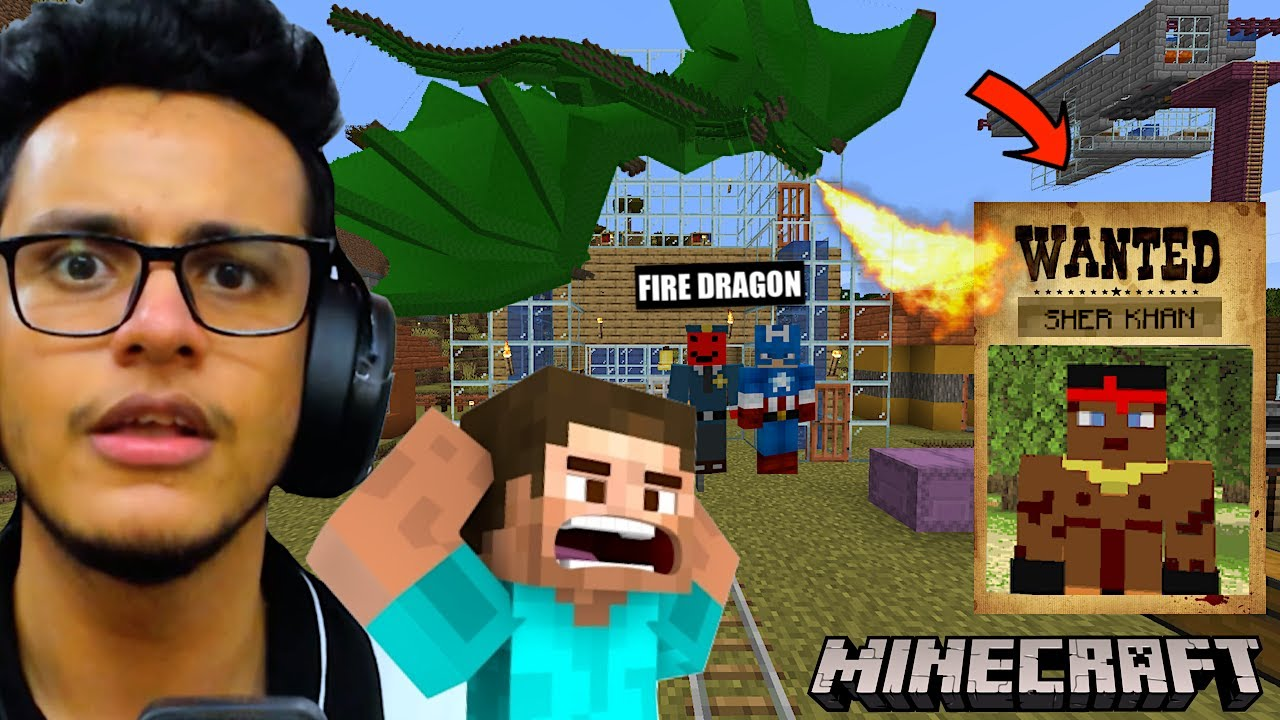 My Dragon Burnt The Entire City To Catch a Gangster (Minecraft)
