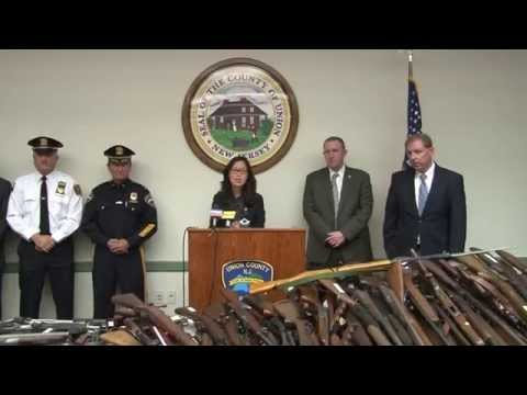 Union County New Jersey Gun Buy Back Press Conference - Union County , NJ