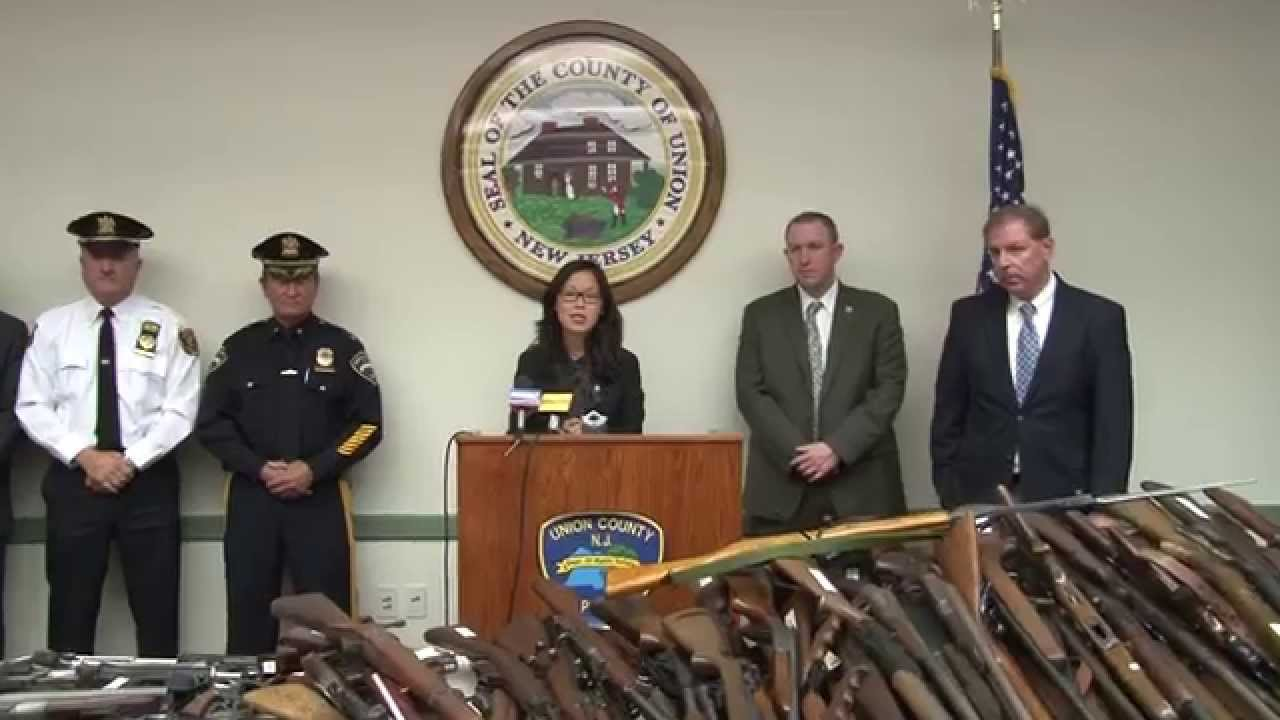 Union County New Jersey Gun Buy Back Press Conference ...