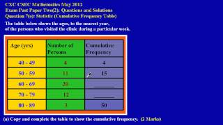 csec cxc maths past paper question 7 a may 2012 exam solutions answers by will edutech