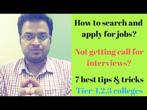 7 Best ways to search and apply for jobs |Tier 1, Tier 2, Tier 3 colleges| How to know job vacancies