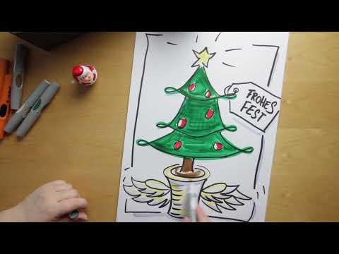 weihnachtsbaum zum ausmalen einfach - malvorlagen