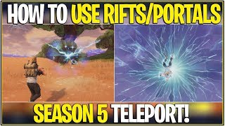 *NEW* Fortnite: HOW TO TELEPORT IN SEASON 5 USING PORTALS/RIFTS! | (Secret Update!)