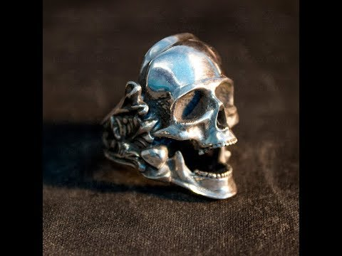 Make a skull ring from design to finishing