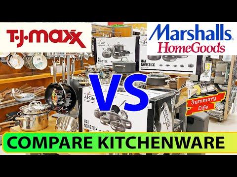 tj-maxx-vs-marshalls-homegoods-kitchenware-cookware-kitchen-tools-glassware-skillets
