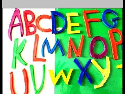 play doh ABC kids   learning Alphabets A to Z   abc new song 2015