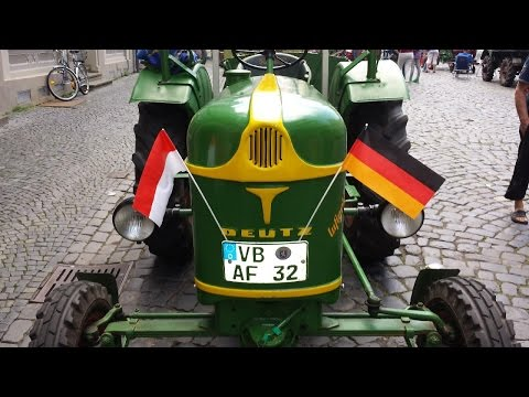 Antique Tractor and Farm Equipment show in Alsfeld, Germany
