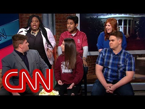 Future voters intense debate on race and guns