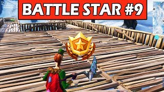 SECRET WEEK 9 BATTLE STAR LOCATION! SNOWFALL CHALLENGE FORTNITE BATTLE ROYALE (LOADING SCREEN #9)