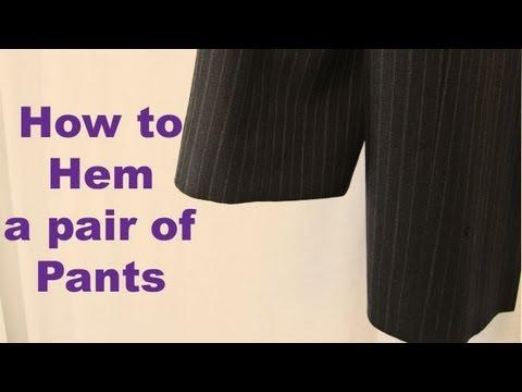 How To Easily Hem Pants Youtube