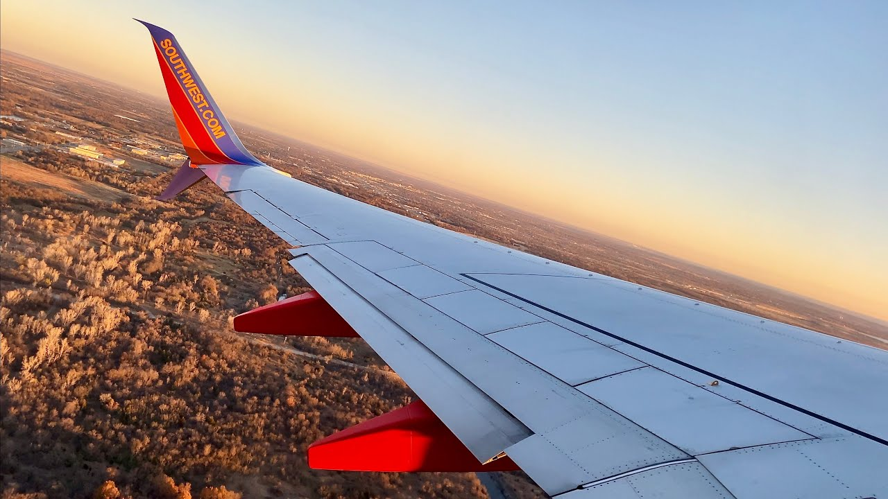 Frosty Sunrise Takeoff – TUL Takeoff – Southwest Airlines – Boeing 737-700 – N254WN – SCS Ep. 536