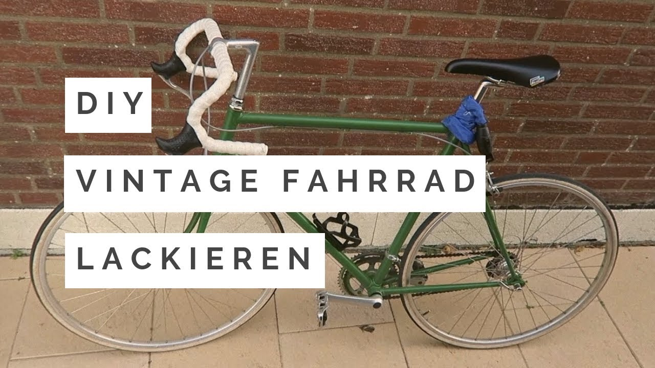 Berühmt VINTAGE Fahrrad selbst lackieren **DIY** - YouTube &GR_14