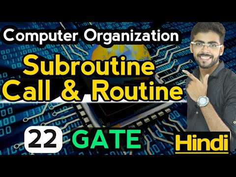 Subroutine Call and Return in Computer Organization | Computer Organization GATE Lectures