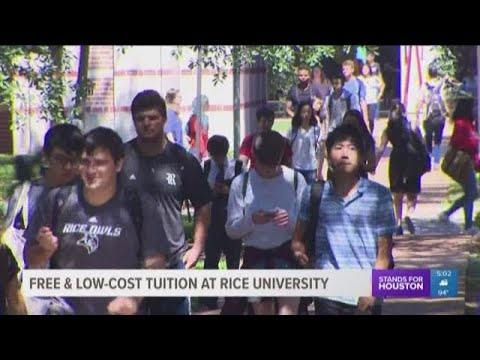 Free and low-cost tuition at Rice University