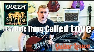 Queen - Crazy Little Thing Called Love - Guitar Tutorial Lesson (GUITAR TAB)