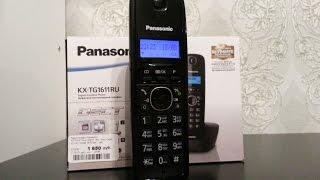 Panasonic KX TG1611RUH распаковка и обзор
