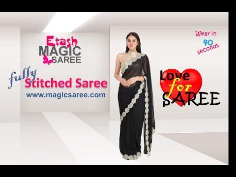 Steps of wearing Etash MAGIC SAREE - SKIRT STYLE