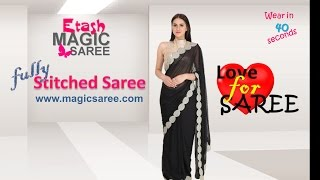 Steps of wearing Etash MAGIC SAREE - SKIRT STYLE