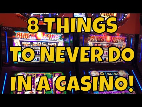8 Things To Never Do In A Casino!