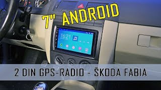 2DIN GPS android radio SEICANE how to mounting Skoda Fabia