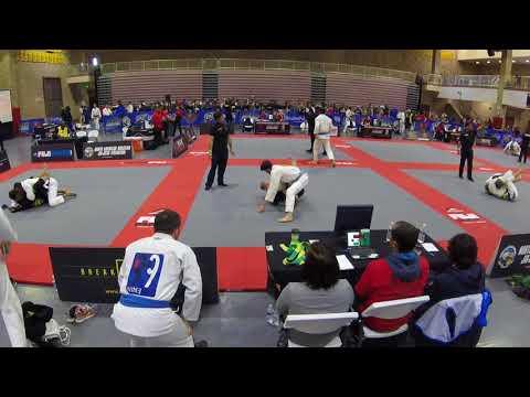Optimus BJJ Blue Belt Wins Match By Points @ NABJJF San Diego 2018