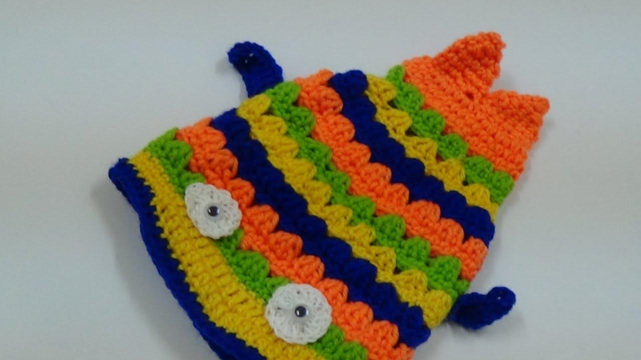 CROCHET FISH HAT-3 - YouTube