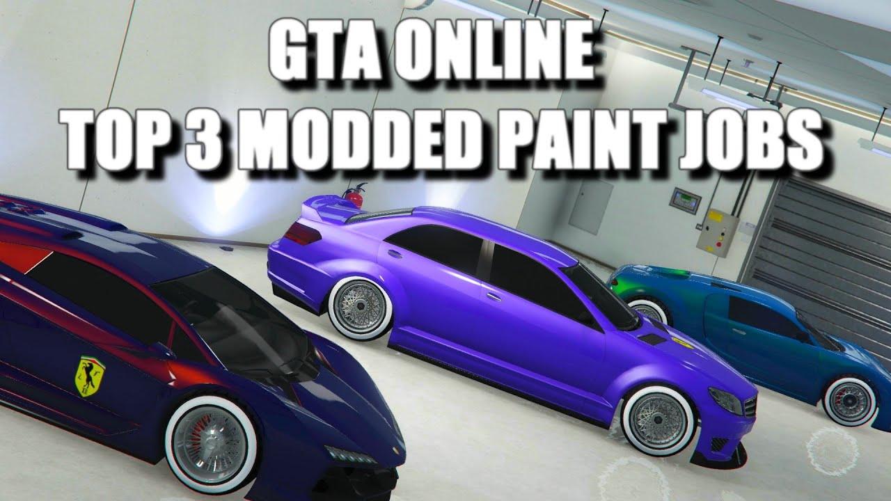 Gta Online Top 3 Modded Crew Paint Jobs Best Rare And Secret Modded Paint Jobs