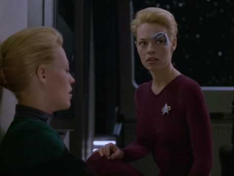 Star Trek Voyager, Relativity. 3 of 4. Seven interacts with self. Captures Braxton.