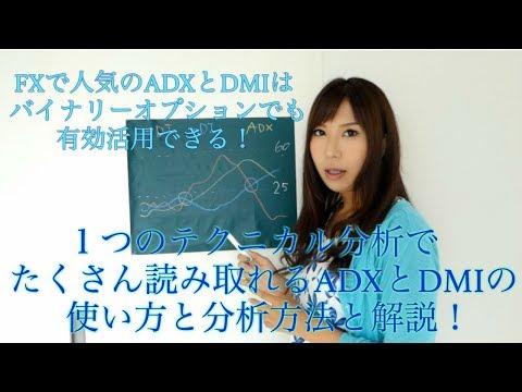 【バイナリー】FXで人気のADXとDMIはバイナリーオプションでも有効活用できる!1つのテクニカル分析で たくさん読み取れるADXとDMIの 使い方と分析方法と解説!【オプション】