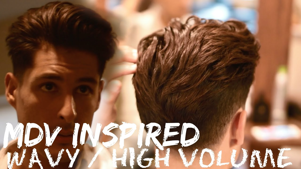 volume on top short sides and back | thick wavy hair 2017 - youtube