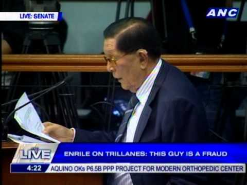 Enrile: Trillanes has been quietly, secretly, clandestinely meeting with the Chinese
