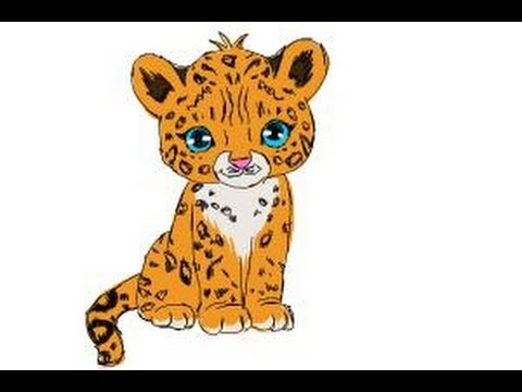 How To Draw A Cartoon Cheetah - YouTube