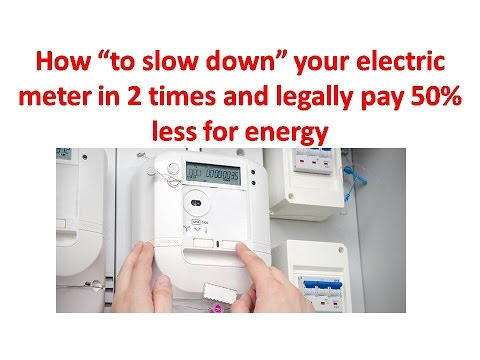 Electricity Meter Slow Down Magnet