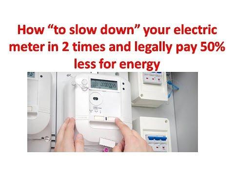 Elster single stator watt hour meter