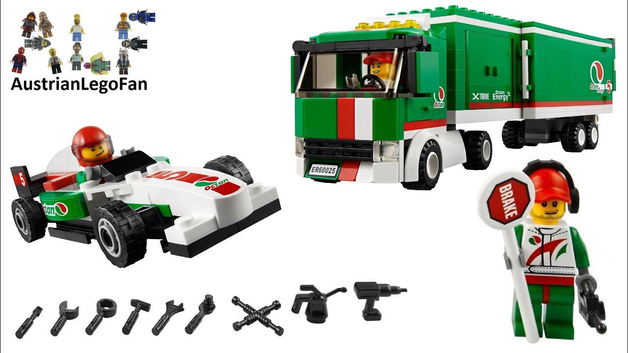 lego city 60025 grand prix truck formel 1 transporter. Black Bedroom Furniture Sets. Home Design Ideas