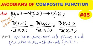 #05 JACOBIANS OF COMPOSITE FUNCTIONS | JACOBIANS OF FUNCTION OF FUNCTIONS | JACOBIANS IN HINDI