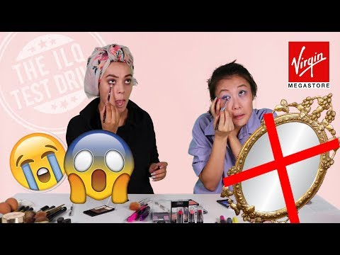 Trying the #NoMirrorMakeupChallenge in Qatar!