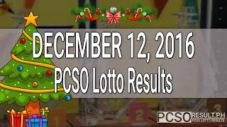PCSO Lotto Results December 12, 2016 (6/55, 6/45, 4D, Swertres & EZ2)