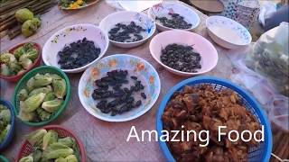 Laos Market - Asian Street Food 2018