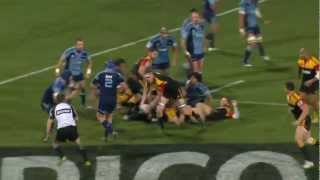 SBW remarkable body balance : Super Rugby 2012 R.15 Blues vs Chiefs 2017 Video