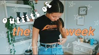 Outfits Of The Week: What I Wear To School! || Hannah Teal